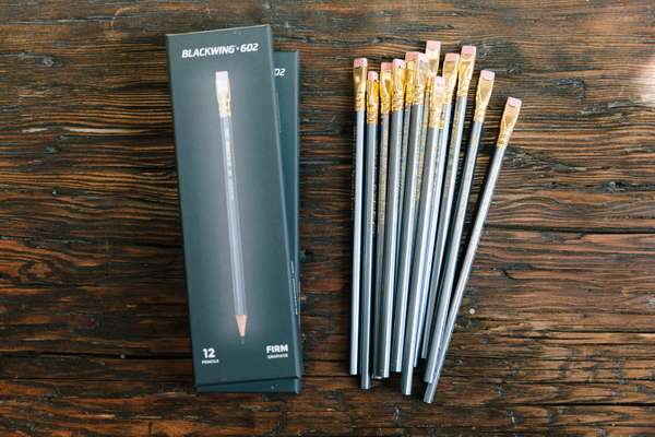 Flat ferrule has always been the Blackwing pencil's distinctive mark
