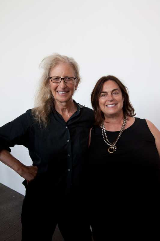Annie Leibovitz (left) and Maja Hoffmann