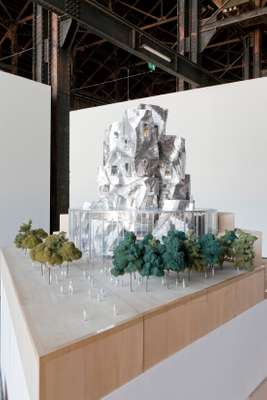 Model of the new Frank Gehry building