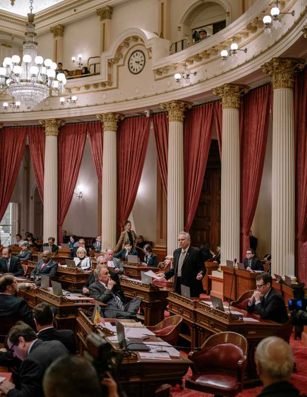 Senate chamber, mid-debate