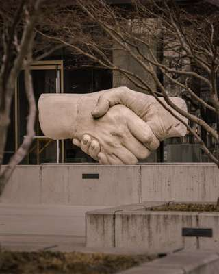 Peace sculpture by Stephen Kaltenbach