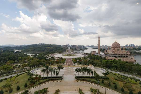 Putrajaya, as seen from Mahathir's window