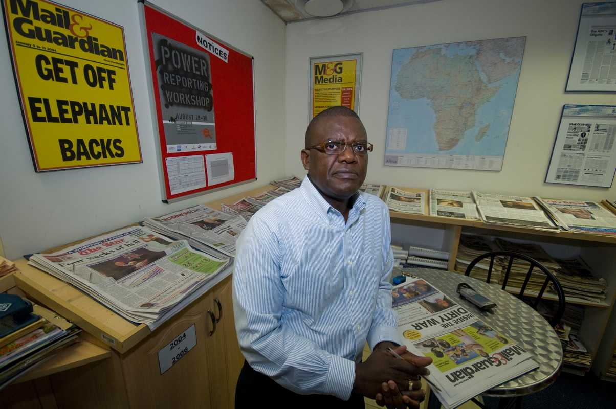 Trevor Ncube in the 'Mail & Guardian' newsroom