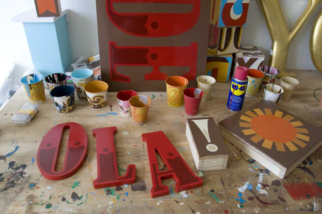 Hand-painted signs by Jeff Canham