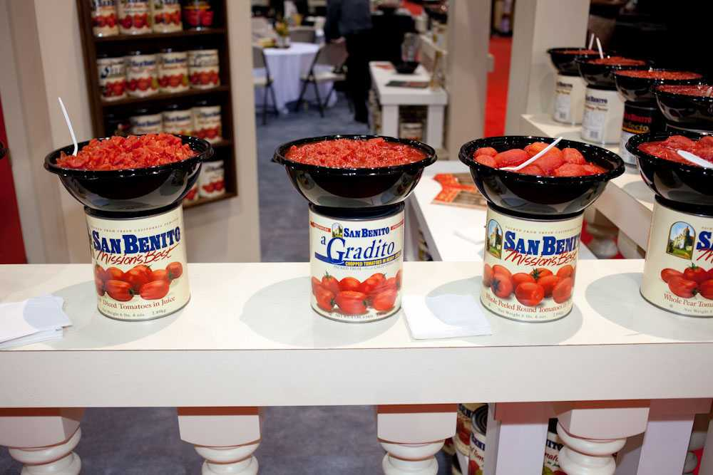 Sample tomato sauces from San Benito