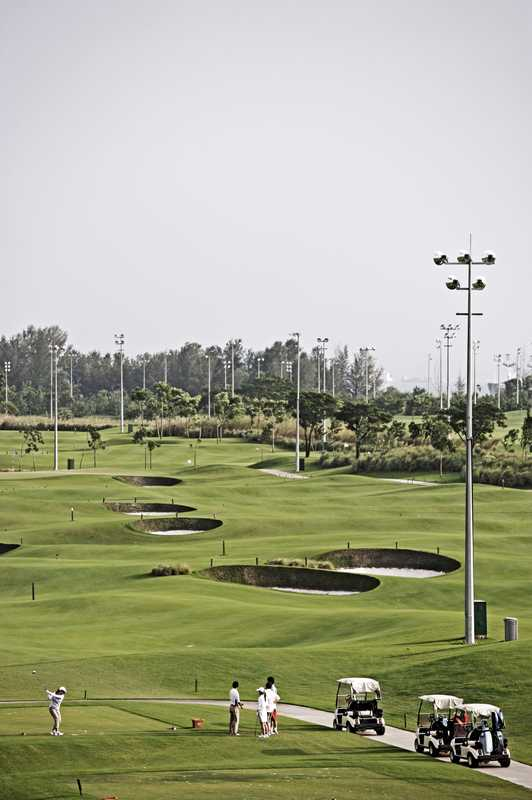 The golf course at Marina Bay