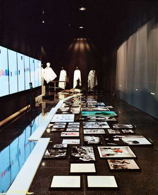 Saint Laurent's work on display