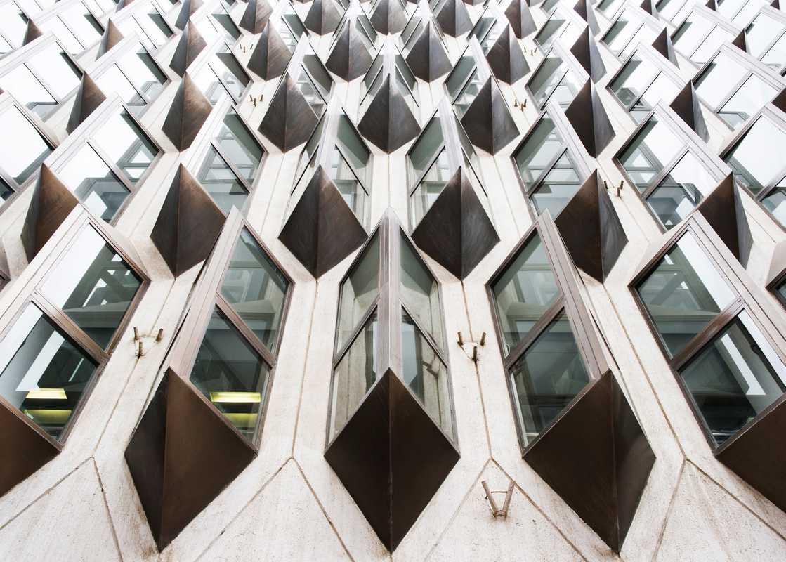The 1977 AXA Insurance building by Jean-Francois Zevaco
