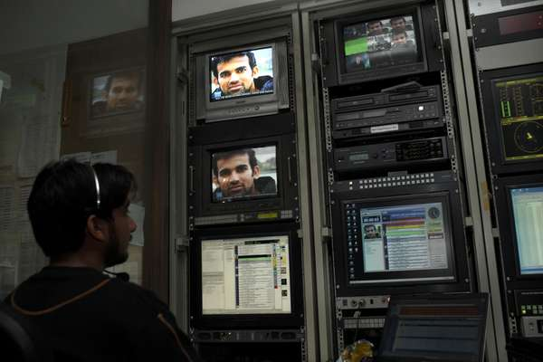 Inside master control room of Dawn News