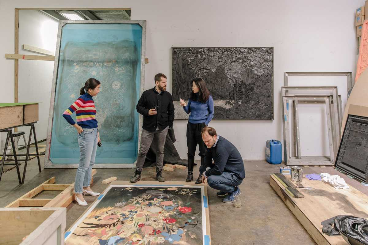 Matthew Day Jackson meets representatives from Hauser & Wirth in Brooklyn