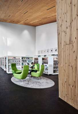 Swedese Happy chairs provide perches for perusal at Maunula library