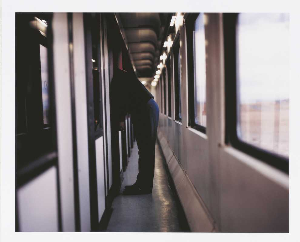 The train's narrow corridors