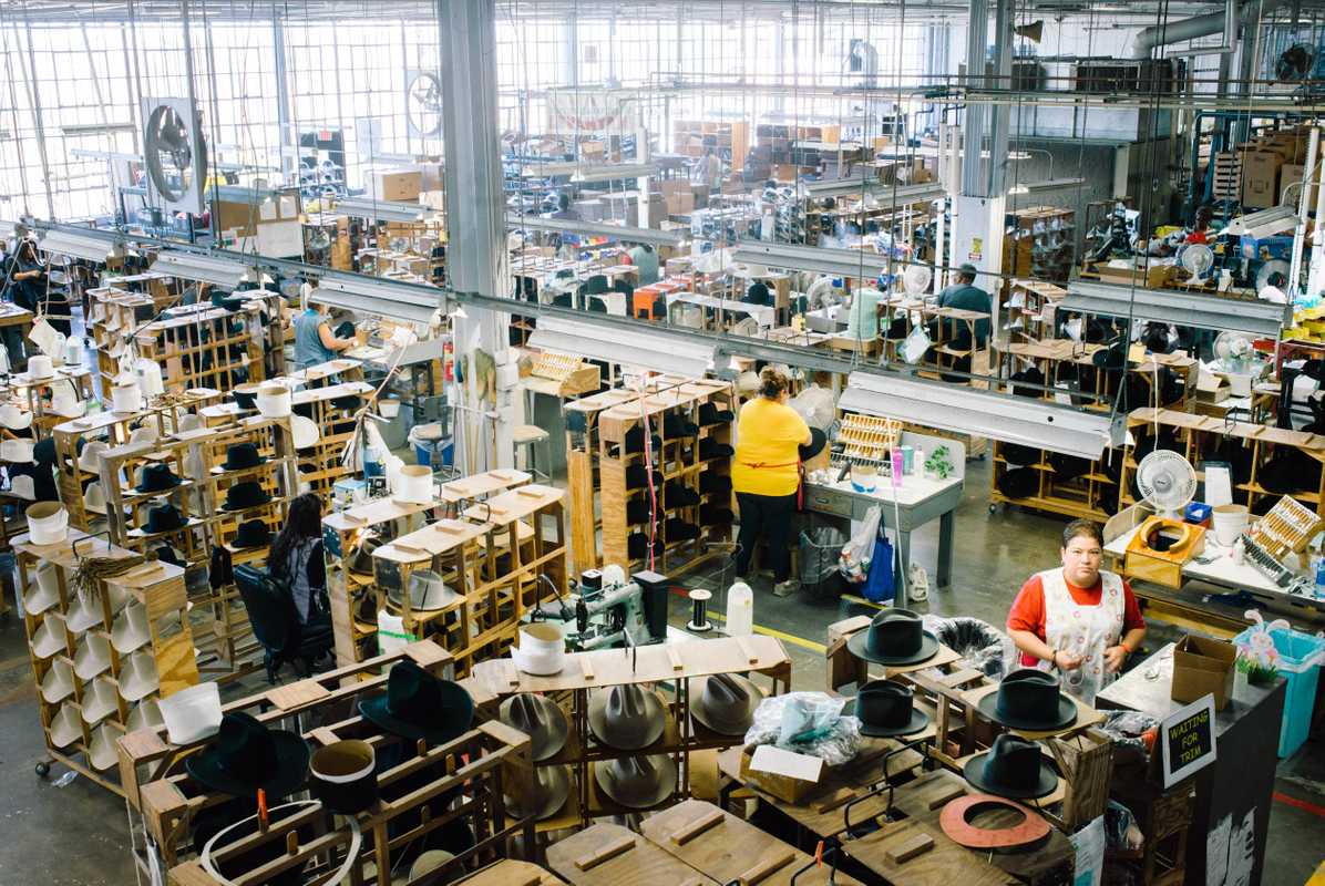 Busy factory floor