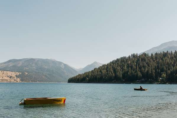 Boating on Wallowa Lake near Lostine