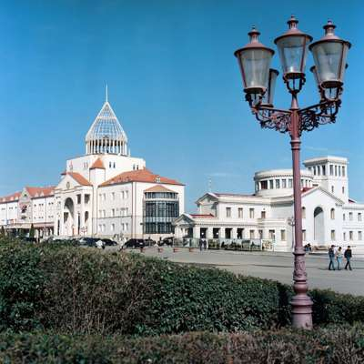 Presidential Office (left) and Ministry of Defence