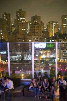 Envy, a disco bar on a hotel rooftop with a view of El Poblado