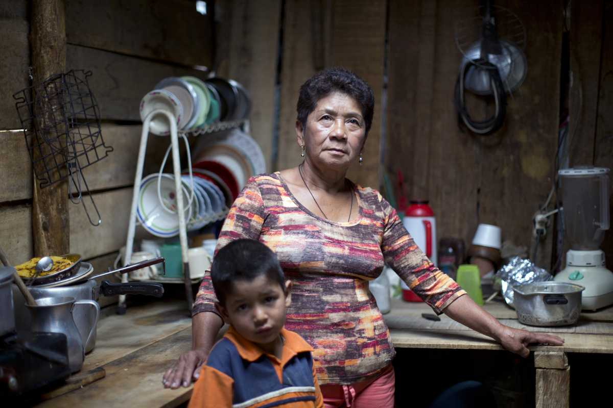Monica Benitez, a displaced mother