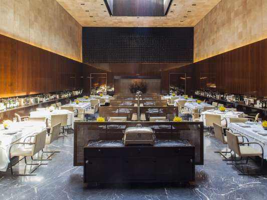 Iconic hall of Hotel Fasano restaurant