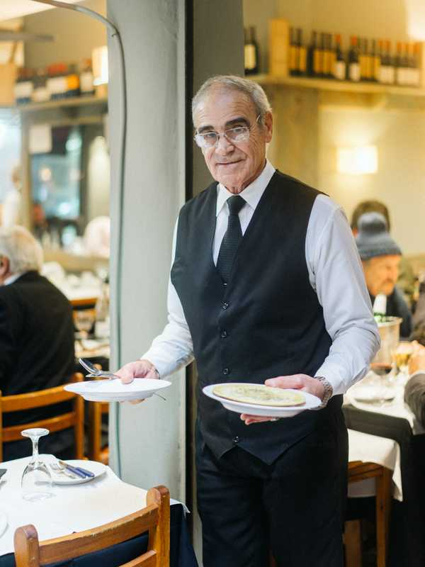 Waiter at Mercado del Puerto