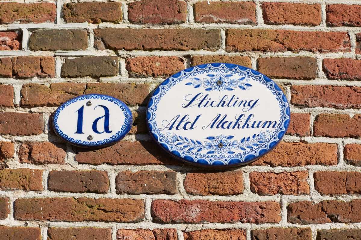 Ceramic house number and nameplate