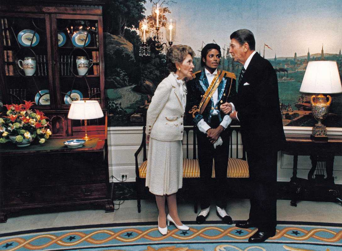 Nancy Reagan, Michael Jackson and Ronald Reagan