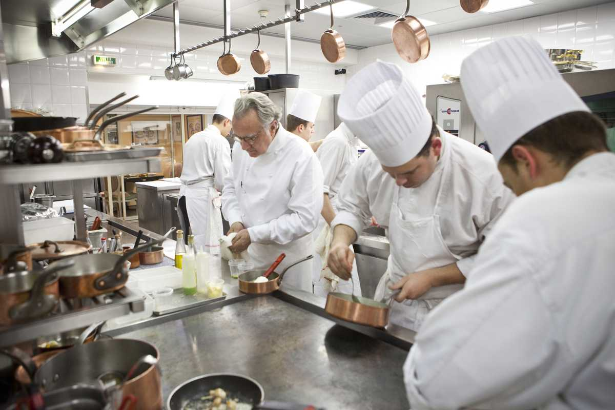 Ducasse in the kitchen