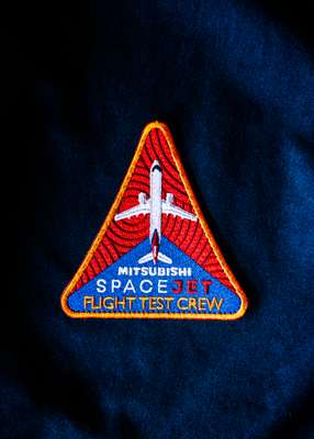 Patch worn by flight-test pilots
