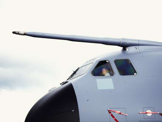 Customer onboard the Airbus A400M Atlas