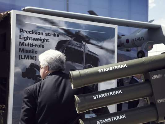 Range of Thales missile weapons on display