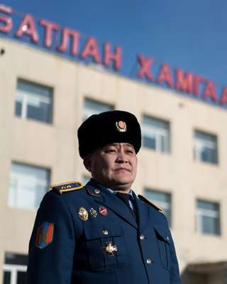 Mongolian officer attached to Nato peacekeeping operation