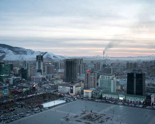Mongolia's Soviet-planned capital Ulaanbaatar, home to nearly half of the country's population