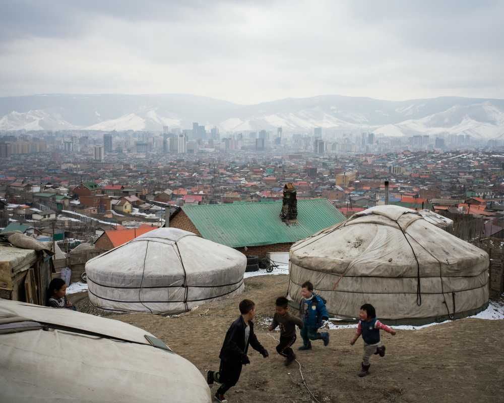More than half of Ulaanbaatar's residents have no running water or plumbing