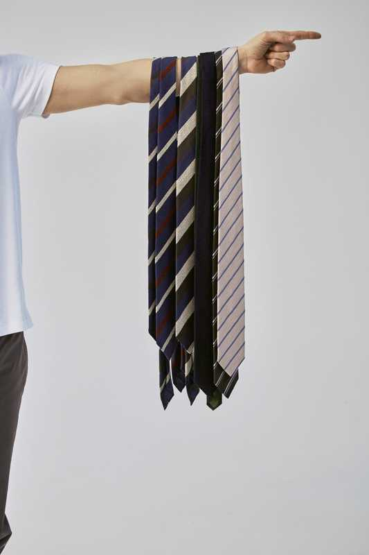 Ties (three on left) by Drake's, ties (four on right) by Bigi Cravatte Milano