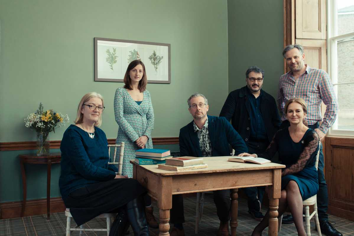 From left: (1) Maggie Kerr, director of development (2) Heather Salisbury, artist manager (3) Andy Fryers, sustainability director (4) Peter Florence, director (5) Adrian Lambert, chief of staff (6) Caroline Michel, chair