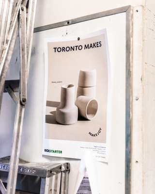 Poster for 'Toronto Makes', a book about the city's craftspeople