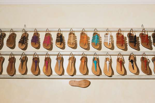 Rondini's sandal collection