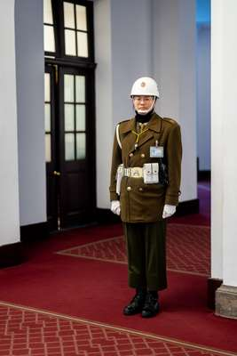 Guard in the corridors
