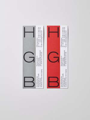 Promotional bookmarks for the HGB
