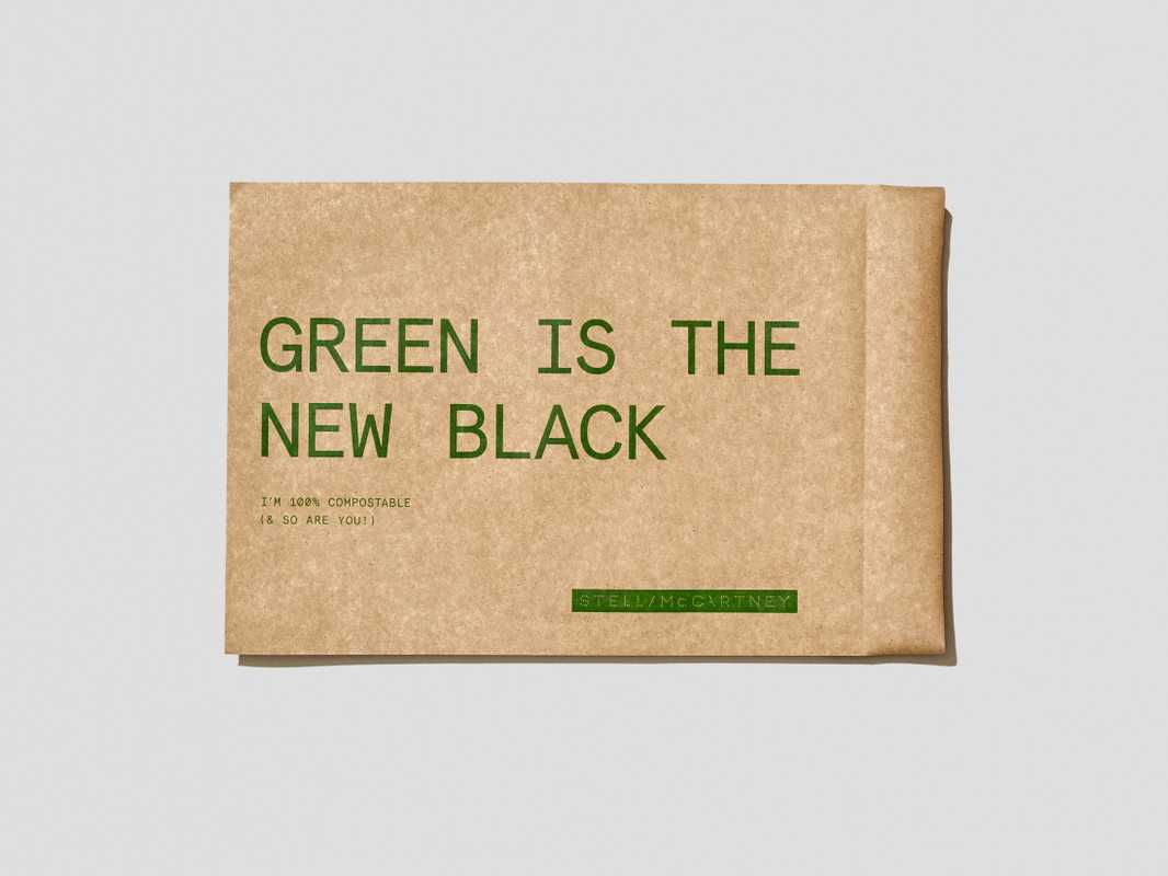 Compostable envelope for Stella McCartney. tipa-corp.com