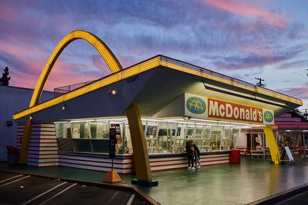 The oldest remaining McDonald's, in Downey, has a Googie vibe