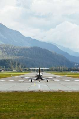 Ready for take-off  at Engadin Airport