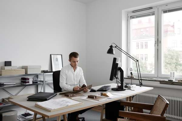 Andreas Martin-Löf in his Stockholm office