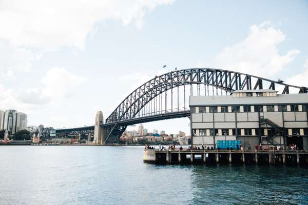 View from The Wharf of Sydney Harbour Bridge