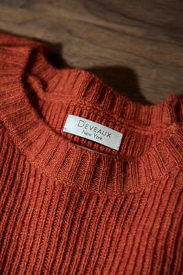 Ripped cashmere jumper