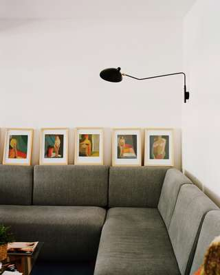 Artworks adorn the Lequerica grandparents' apartment