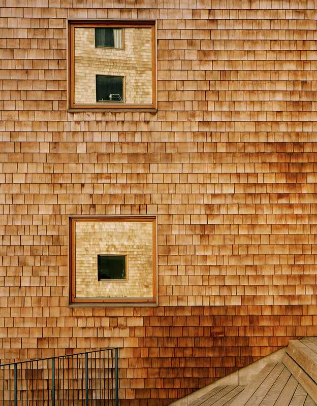 Façades clad in cedar wood