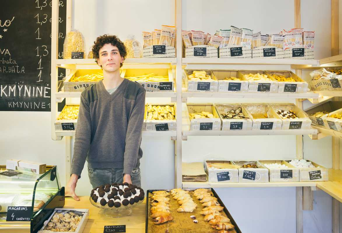 Vytenis Daubaras, owner of Kmynine bakery