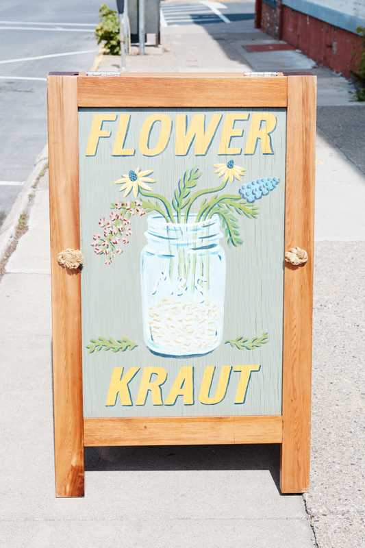 Where flowers and sauerkraut combine
