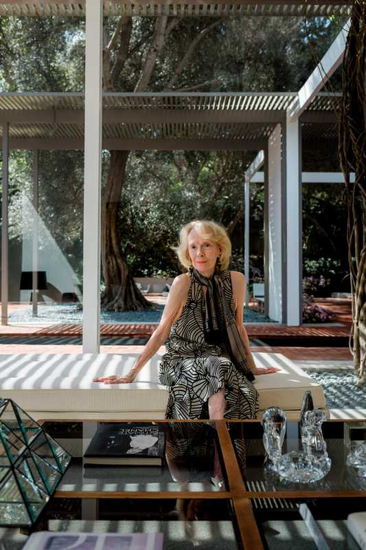 Laura Killingsworth at the Long Beach home that husband Ed designed