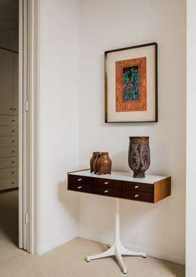 George Nelson furniture and Ynez Johnston art at the Brady House